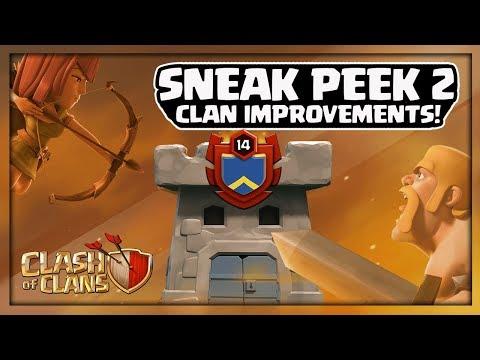 Clash of Clans Update! Sneak Peek 2: New Clan Shields, Friends Online, More Spectator Slots!