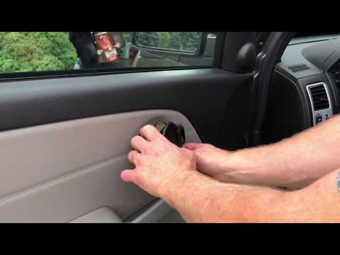 Removing and replacing the Door Panel on a Chevy Equinox