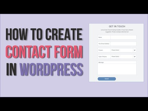 How to Create a Contact Form  in WordPress - Using WPForms - EASY
