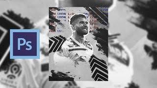 Nabil Fekir - Football Poster Design | Speed Art | Flairdzn |