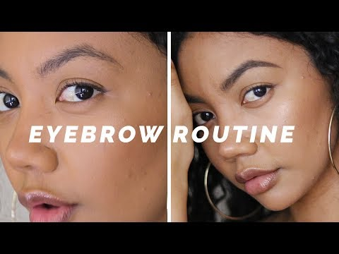 How to SLAY Your Brows In Between Waxes | Eyebrow Routine