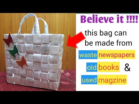 Learn to make paper bag from WASTE!!!!