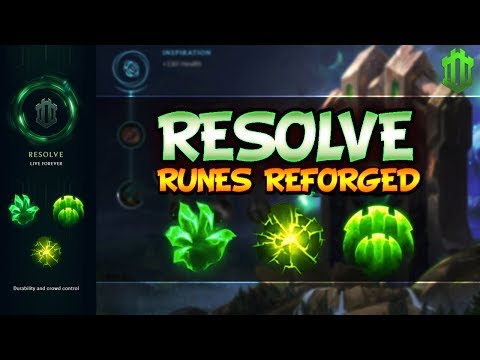 Resolve Guide - NEW SEASON 8 RUNES   PRO TIPS & FOR BEGINNERS - League Of Legends Runes Reforged