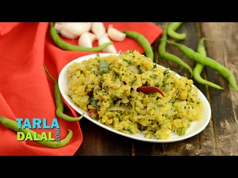 Zunka, Traditional Maharashtrain Spicy Sabzi by Tarla Dalal
