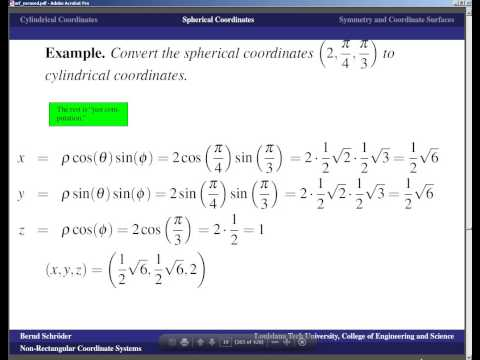 Concise Modular Calculus [73/97] Non-Rectangular Coordinate Systems (5/6 on Surfaces in 3-D Space)