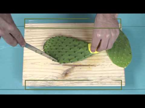 How to Cut and Clean Fresh Nopales (Cactus Leaves)