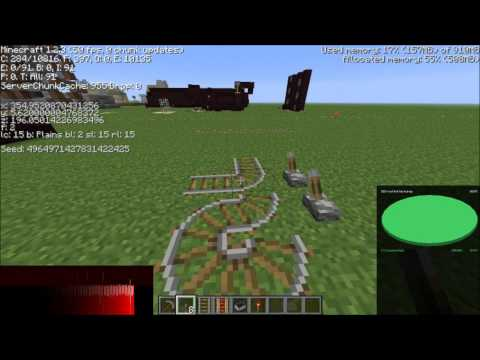 Minecraft Tutorial - Placing Diagonal Railways