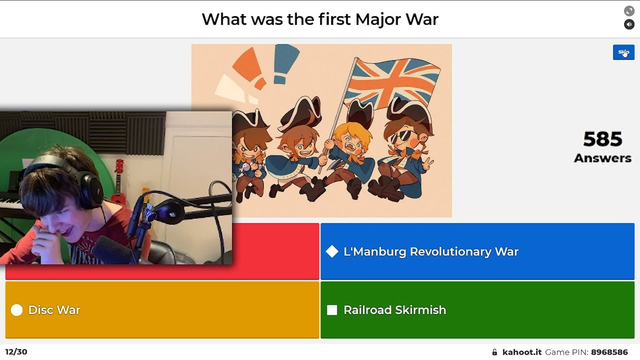 Tubbo Tests His Knowledge About the Dream SMP in Kahoot!