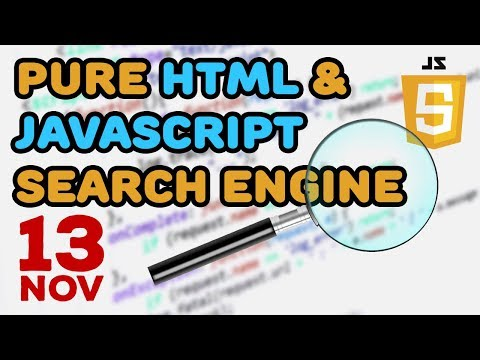 Pure HTML and JavaScript Simple Search Engine