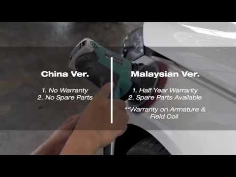 Ryobi PEG130 Malaysia Ver. Vs China Ver.
