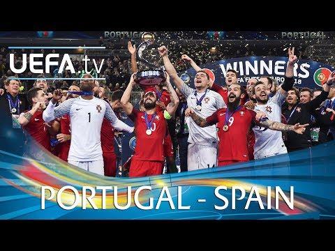 Futsal EURO 2018 final highlights: Portugal v Spain
