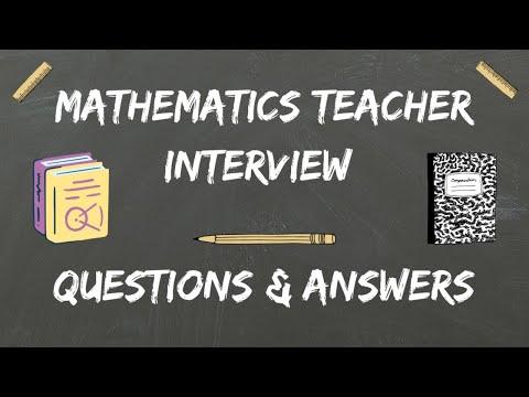 Math Teacher Interview Questions & Answers