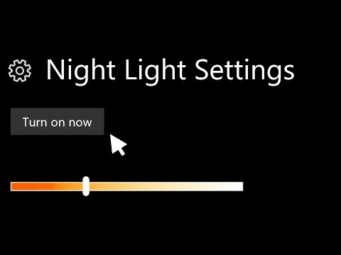 How to Enable Night Light on Windows 10│Creators Update
