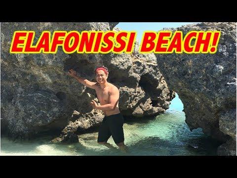 CHANIA CRETE BEST BEACHES | ELAFONISSI BEACH GREECE
