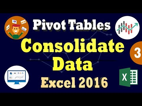 Consolidate/Combine Data From Multiple Worksheets into Excel Pivot Table - Ms Excel 2016 Tips