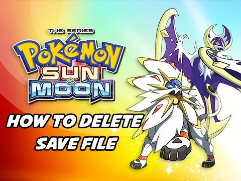 Pokémon Sun & Moon Tutorial - How to Erase Delete Save File (Walkthrough Guide)