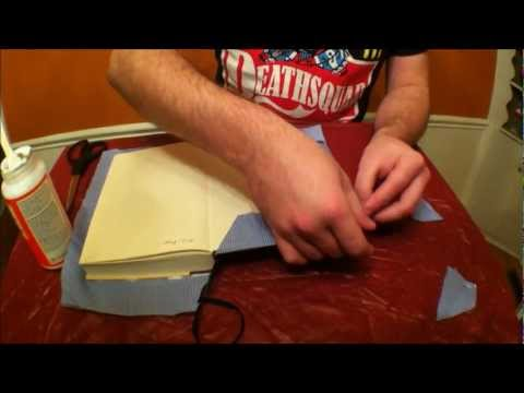How to Custom Cover a Book with Scrap Fabric