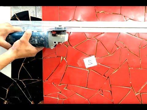 Cutting ceramic mosaic tiles