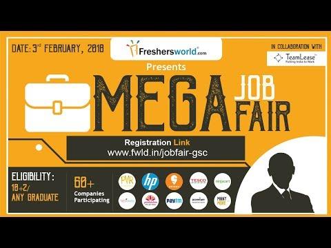 Freshersworld Mega Job Fair - 3rd February 2018, 60+ Companies, Participate for Free