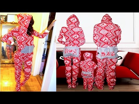 DIY Hooded Dropseat Footed Onesie Pajamas!