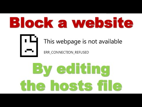 How to block a website by editing the hosts file