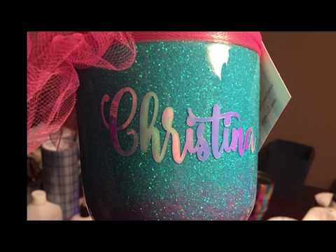 DIY: Applying Decals to a Glittered Tumbler