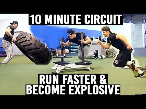 Run Faster & Become An Explosive Athlete | 10 Minute Circuit