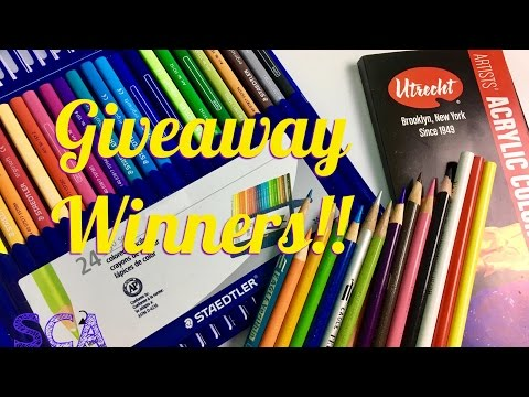 Berol Prismacolor And Staedtler Giveaway Winners Announced!