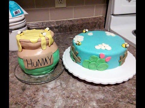 Winny the Pooh hunny pot cake