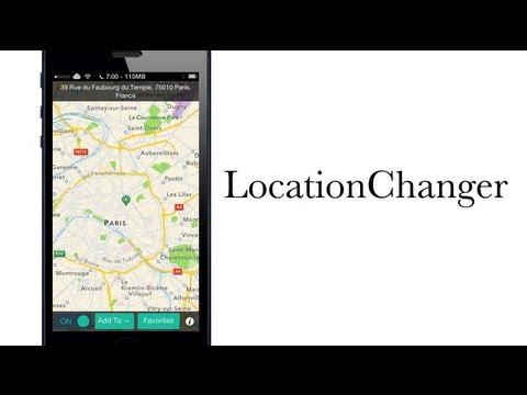 LocationChanger allows you to change your current location - iPhone Hacks