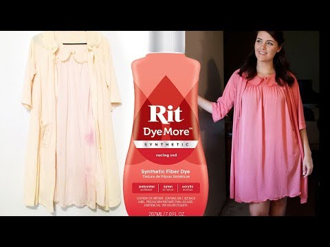 Rit DyeMore Synthetic Fabric Dye - Vintage Clothing Repair DIY - How to Hide a Stain