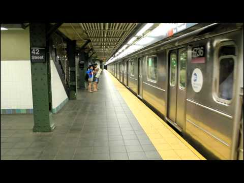 IRT Subway Action: (1) (2) (3) (7) (S) at Times Square / 42nd Street