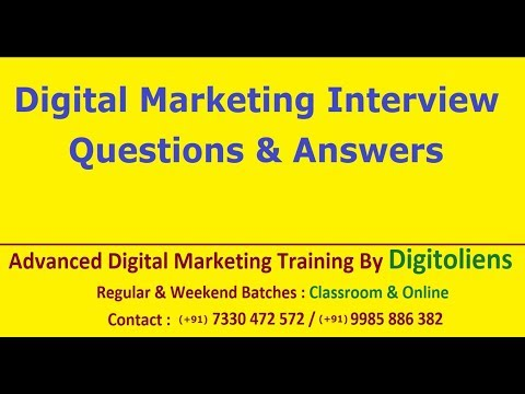Digital Marketing interview Questions and Answers | Digitoliens