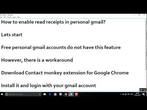 How to enable read receipts in personal gmail?