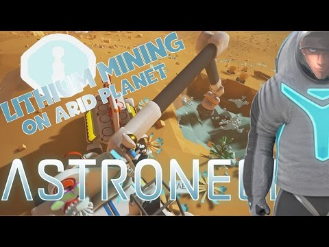 ASTRONEER - MINING LITHIUM ON ARID PLANET - Underground Base supplying   Gameplay part Let's Play