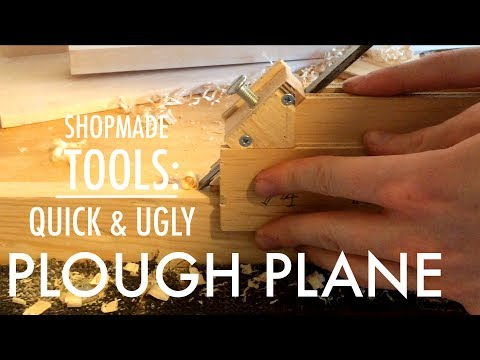 Making a simple plough plane/grooving plane with hand tools