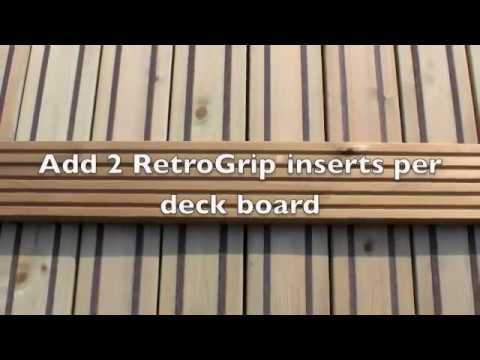 Slippery Decking Solution - RetroGrip® Installation