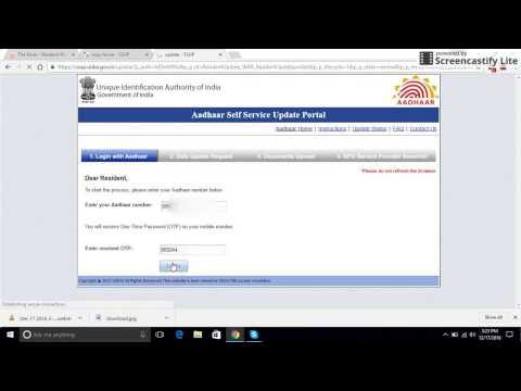 Aadhar Card online to change your Name DOB Address Mobile Number