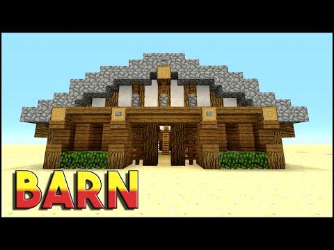 BARN | Minecraft: How To Build A Barn Tutorial | Medieval Barn | PS3, PS4, XBOX360, MCPE
