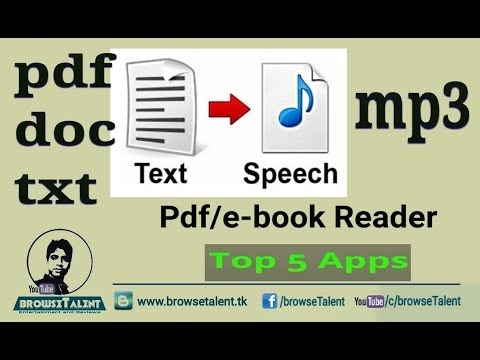 Text to Speech Converter for free | How to Convert doc/pdf/text files to audio/mp3 files