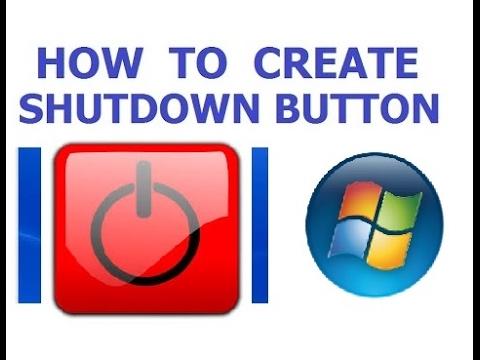How to create shutdown Icon in windows