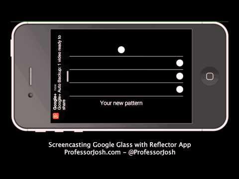 Reflector Google Glass Sample