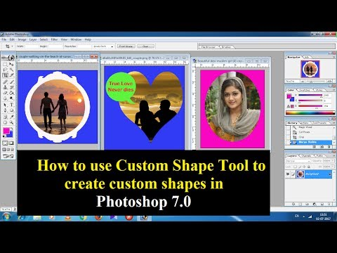 Create custom shapes in Adobe Photoshop 7.0