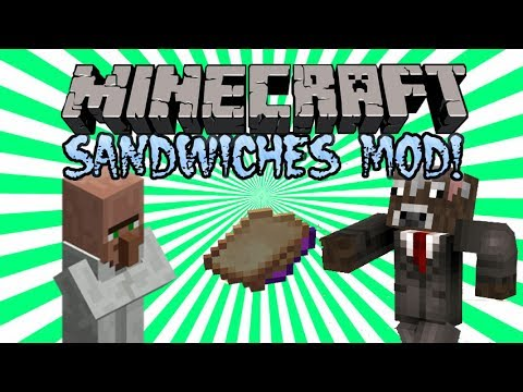 Minecraft | SANDWICHES MOD! (Jelly & Peanut Butter Sandwich!) | Mod Showcase