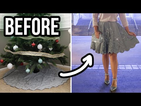 Christmas Tree Skirt Transformation | DIY Holiday Skirt
