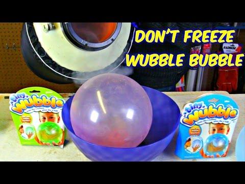 Don't Freeze Wubble Bubble with Liquid Nitrogen