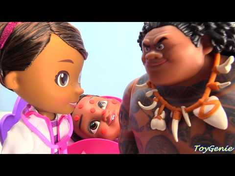 Baby Moana and Maui Gets Chicken Pox Doc McStuffins Visit