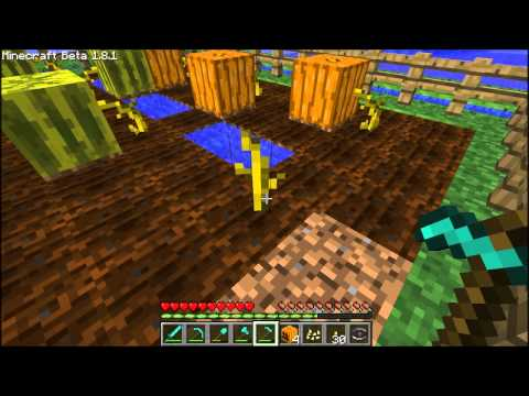 Minecraft How To Get The Melon Seeds From Melons,Pumpkin Seeds From Pumpkins Episode   30