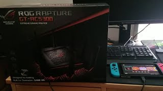 ASUS ROG Rapture GT-AC5300 Tri-Band Extreme Gaming Router [Download Speed Test w/ Nintendo Switch]