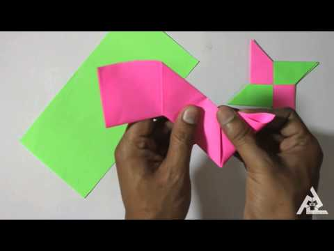How To Make Origami Ninja 4 Pointer Star | Traditional Paper Toy